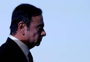 Carlos Ghosn, ex-executivo da Nissan preso no Japão desde 19 de novembro Foto: Regis Duvignau / Reuters