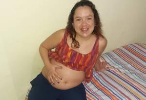 Verônica estava grávida de seis meses Foto: Reprodução