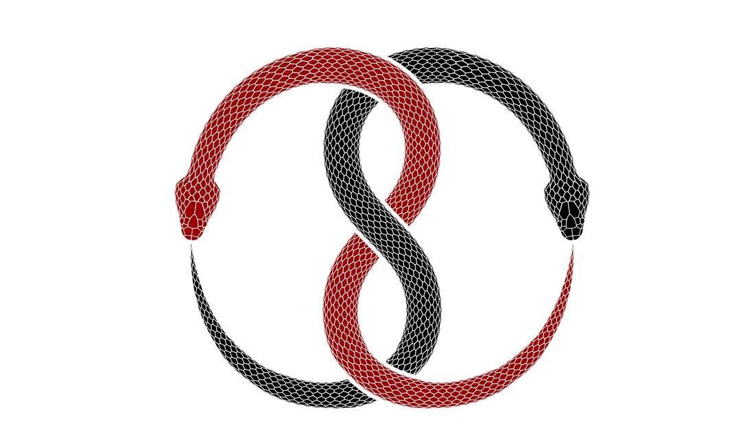 Uma ilustração da Ouroboros, um símbolo que representa a eternidade Foto: vinap / Getty Images/iStockphoto