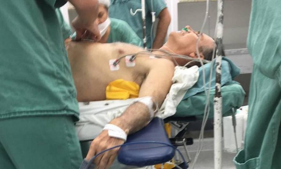 Desde a facada, Bolsonaro usa uma bolsa de colostomia em função de lesões graves nos intestinos Foto: Reprodução