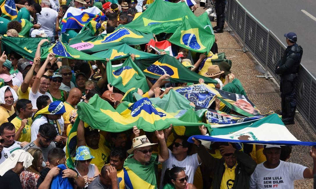 Apoiadores de Bolsonaro fazem a festa em Brasília Foto: EVARISTO SA / AFP