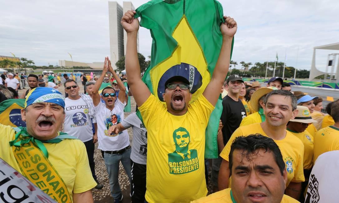 A festa dos bolsonaristas em Brasília Foto: SERGIO MORAES / REUTERS