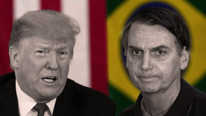 O presidente americano Donald Trump e o presidente brasileiro Jair Bolsonaro Foto: Agência O Globo