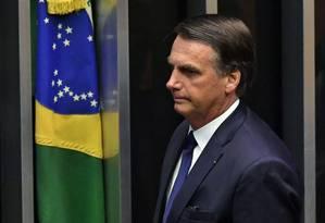 Parlamentares de esquerda criticam discurso do presidente Jair Bolsonaro Foto: NELSON ALMEIDA / AFP
