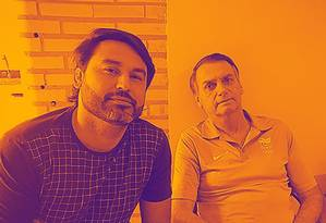 Leonardo Rodrigues de Jesus, ao lado de Jair Bolsonaro Foto: reprodução