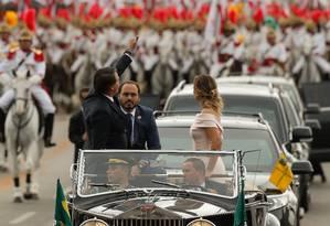Posse do presidente Jair Bolsonaro. Na foto, o desfile em carro aberto Foto: Pablo Jacob / Agência O Globo
