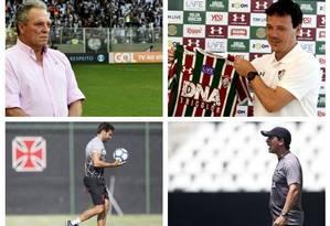 Técnicos de clubes do Rio Foto: Agencia O Globo