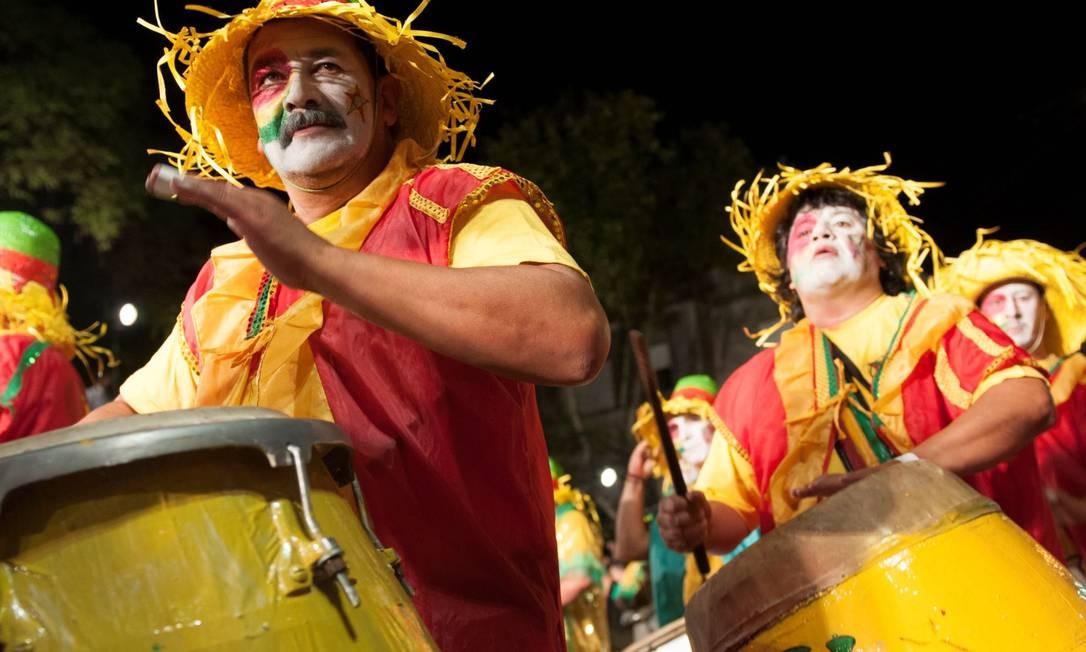 Em 2019, músicos de candombe desfilarão pelas ruas de Montevidéu a partir de 24 de janeiro Foto: Leonardo Correia / Ministério do Turismo do Uruguai / Divulgação