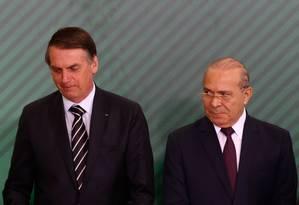 Um dia após a posse, o presidente Jair Bolsonaro participou de cerimônia no Palácio do Planalto Foto: Pablo Jacob / Agência O Globo