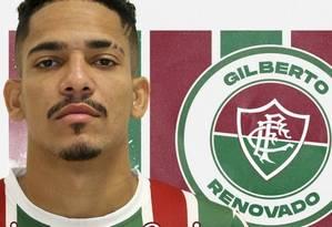 Fluminense anuncia renovação de empréstimo de Gilberto Foto: Reprodução