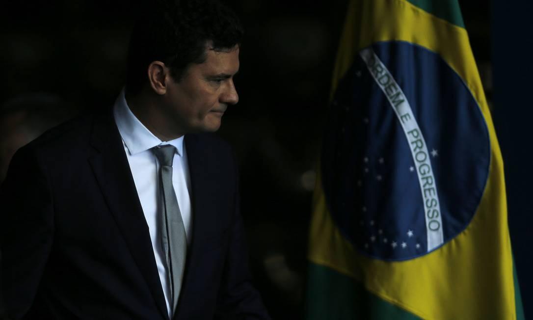 O novo ministro da Justiça, Sergio Moro Foto: Jorge William / Agência O Globo