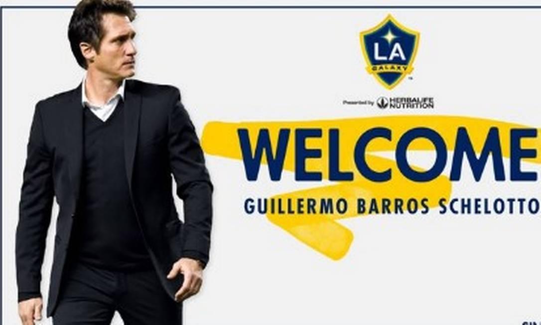 Schelotto é o novo técnico do LA Galaxy Foto: Reprodução