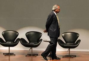 O ministro da Economia, Paulo Guedes, durante cerimônia de transmissão de cargo Foto: Jorge William / Agência O Globo