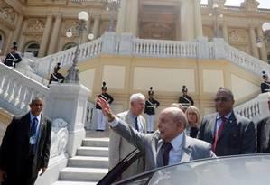 Dornelles irá tirar férias de 2 meses; Ademário, que virou meme, será motorista pessoal do ex-governador a partir de agora Foto: Domingos Peixoto / Agência O GLOBO