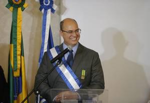 Governador tem elogiado em público o presidente em exercício do poder Legislativo do Rio Foto: Domingos Peixoto / Agência O Globo