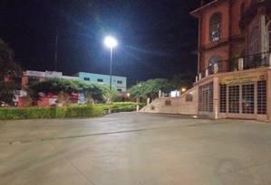Igreja isolada pela PM para detonação de explosivo encontrado em mochila Foto: Polícia Militar do DF/Divulgação