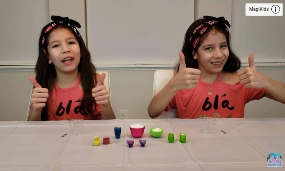 As gêmeas Larissa e Nicole Foto: Reprodução