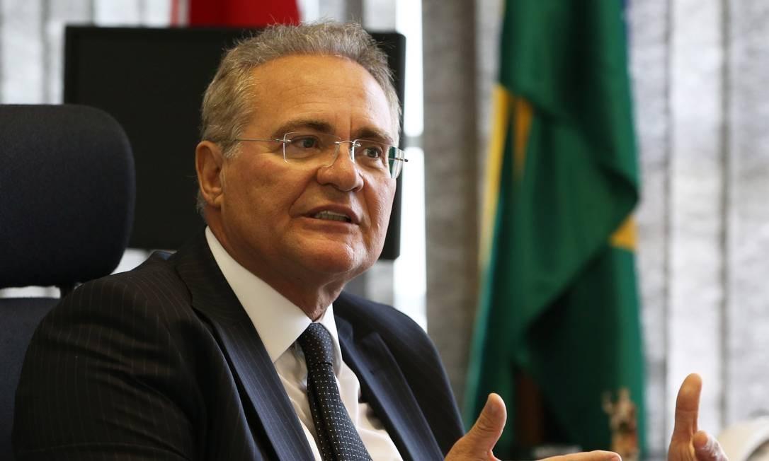 Renan Calheiros Foto: Givaldo Barbosa / Agência O Globo