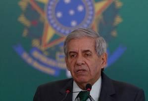 O ministro-chefe do Gabinete de Segurança Institucional, Augusto Heleno Foto: Pablo Jacob / Agência O Globo