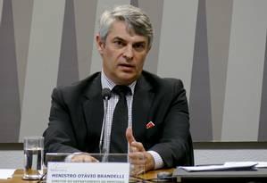 Otávio Brandelli participa de audiência no Senado Foto: Roque de Sá/Agência Senado/08-08-2017