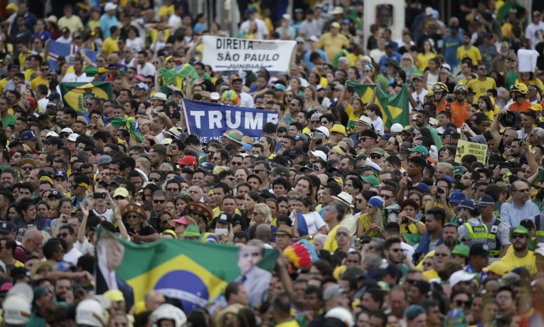 Apoiadores acompanham posse de Jair Bolsonaro Foto: Daniel Marenco / Daniel Marenco