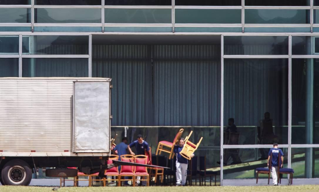 Não foi informado o motivo oficial para a troca do mobiliário Daniel Marenco / Agência O Globo