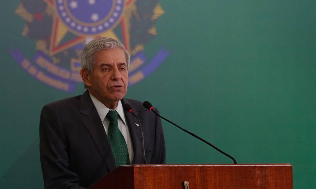 Ministro do Gabinete de Segurança Institucional, Augusto Heleno Foto: Pablo Jacob / Agência O Globo