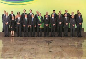 A foto oficial do governo Bolsonaro Foto: Daniel Marenco / Agência O Globo