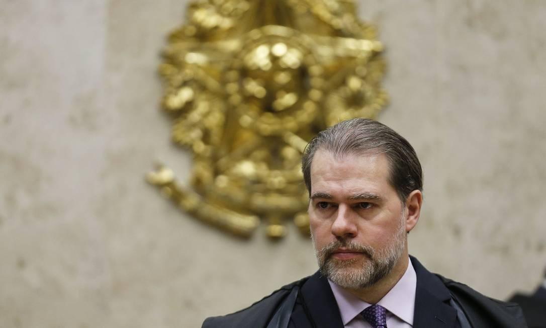 O presidente do STF, ministro Dias Toffoli, durante sessão Foto: Jorge William/Agência O Globo/29-11-2018