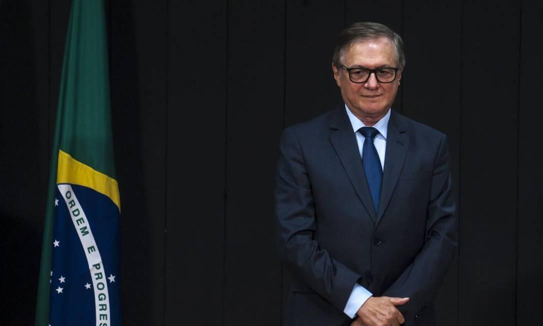O ministro da Educação, Ricardo Vélez, durante cerimônia de transmissão de cargo Foto: Marcello Casal jr/Agência Brasil