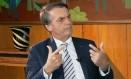 O presidente Jair Bolsonaro, durante entrevista Foto: Reprodução/SBT