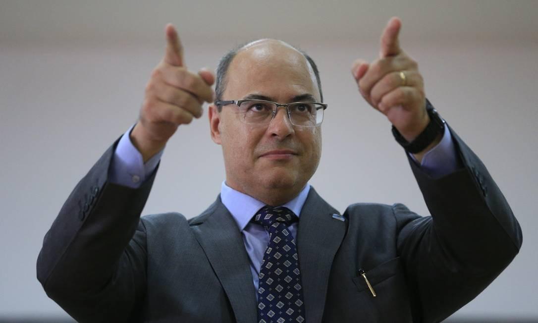 Lista de metas do governo Witzel para os primeiros 180 dias é extensa Foto: Roberto Moreyra / Agência O Globo