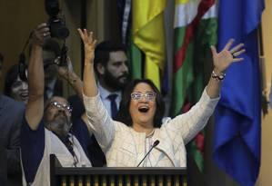 Damares riu de marchinhas que ironizam suas frases Foto: Wilson Dias / Agência Brasil/2-1-2019