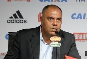 Vice de futebol, Marcos Braz fez elogios para o uruguaio Arrascaeta Foto: Alexandre Vidal/Flamengo