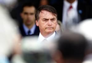 O presidente Jair Bolsonaro participa de solenidade de passagem de comando da Aeronáutica Foto: Jorge William/Agência O Globo