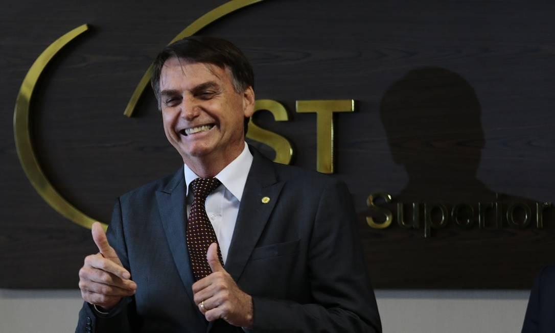 O presidente e Jair Bolsonaro durante evento do Tribunal Superior do Trabalho (TST) 13/11/2018 Foto: Jorge William / Agência O Globo