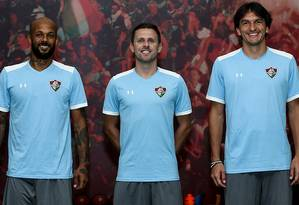 Bruno Silva, Ezequiel e Matheus Ferraz foram anunciados oficialmente pelo Fluminense Foto: Lucas Merçon/Fluminense