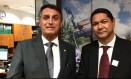 em vídeo no Facebook, Bolsonaro pede votos para o delegado Everaldo Eguchi, então candidato a deputado federal pelo PSL Foto: Reprodução