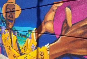 Painel pintado por ACME para o projeto Rua 5.500, no Uptown Foto: Divulgação