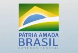 Slogan do governo de Jair Bolsonaro Foto: Reprodução/Twitter
