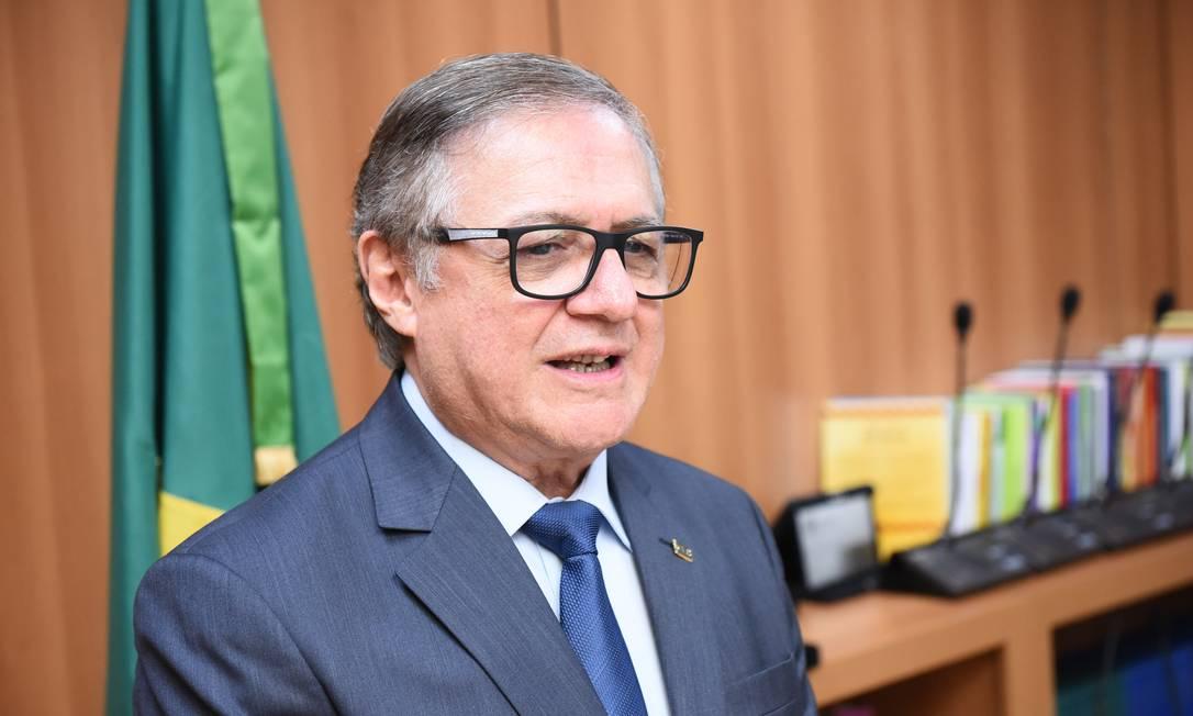 O ministro da Educação, Ricardo Vélez, durante cerimônia de transmissão de cargo Foto: Luis Fortes/MEC/02-01-2019