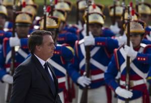 Jair Bolsonaro durante sua posse como presidente da República Foto: Bruna Prado / Getty Images
