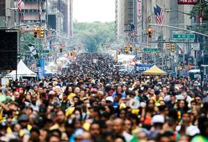 Dia do Brasil em Nova York: restrições também vem afetando comunidade brasileira no país Foto: VANESSA CARVALHO/3-9-2017 / Agência O Globo