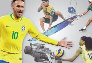 Calendário esportivo de 2019 Foto: Arte O Globo