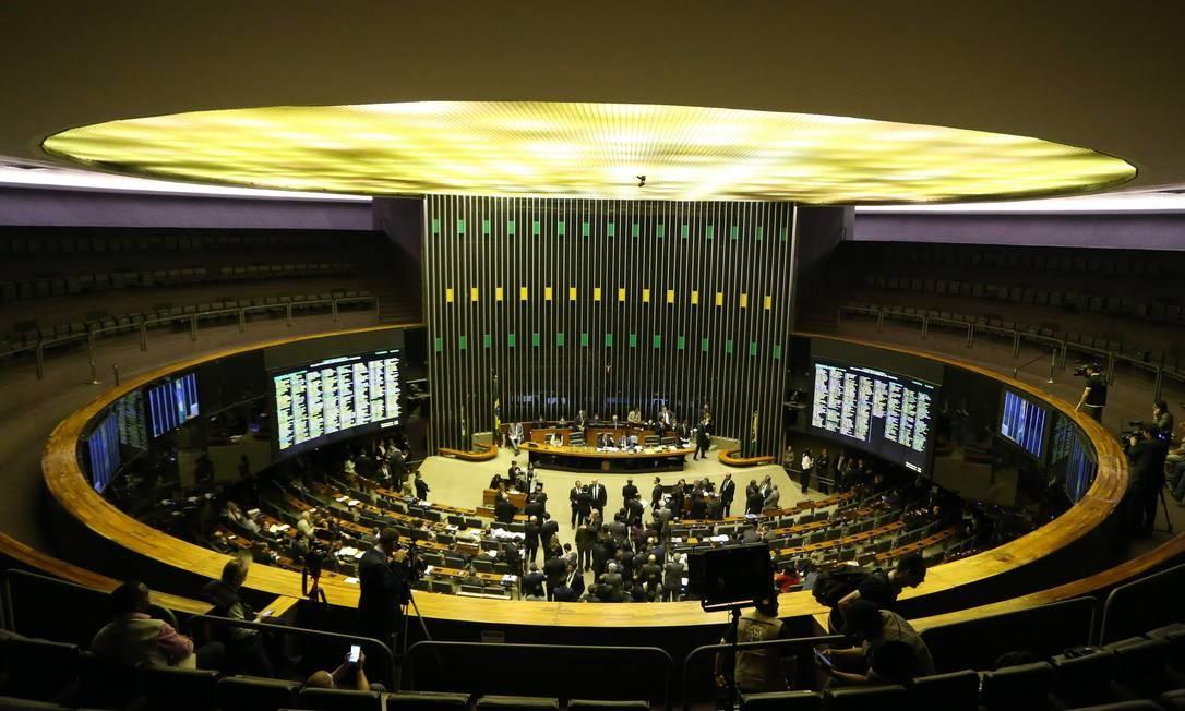 Sessão no Congresso Nacional, em Brasília Foto: Ailton de Freitas / Agência O Globo