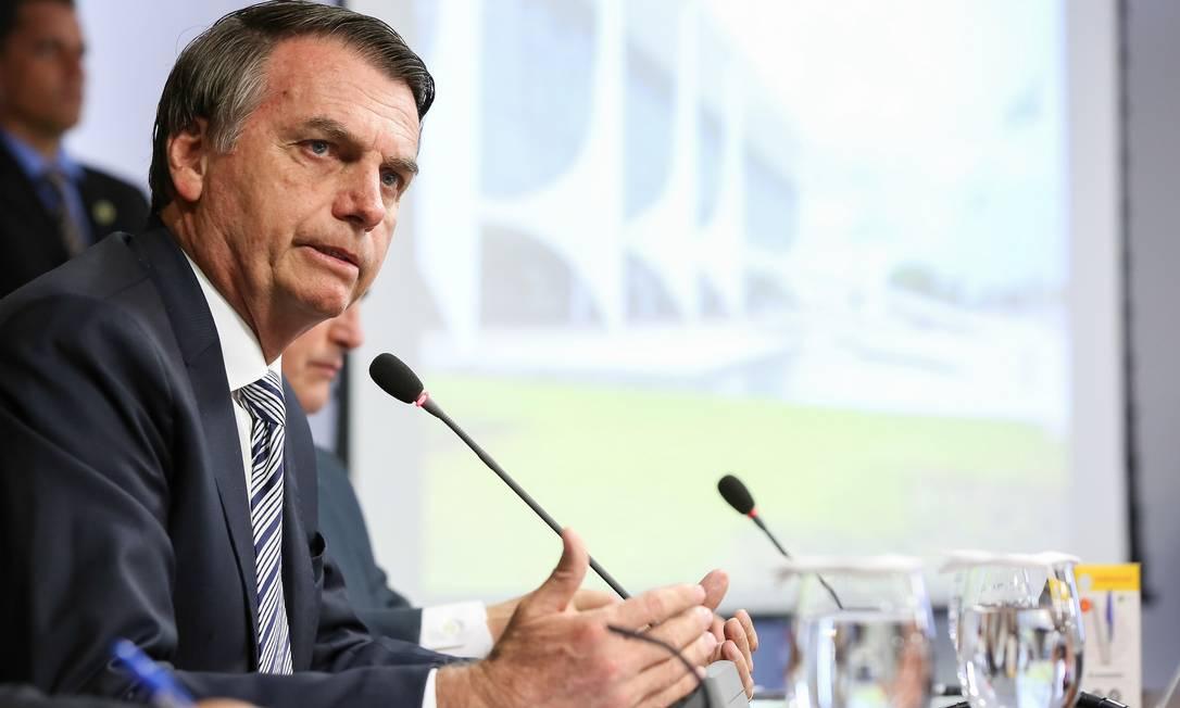 O presidente da República Jair Bolsonaro durante evento em Brasília Foto: Marcos Corrêa / Agência O Globo