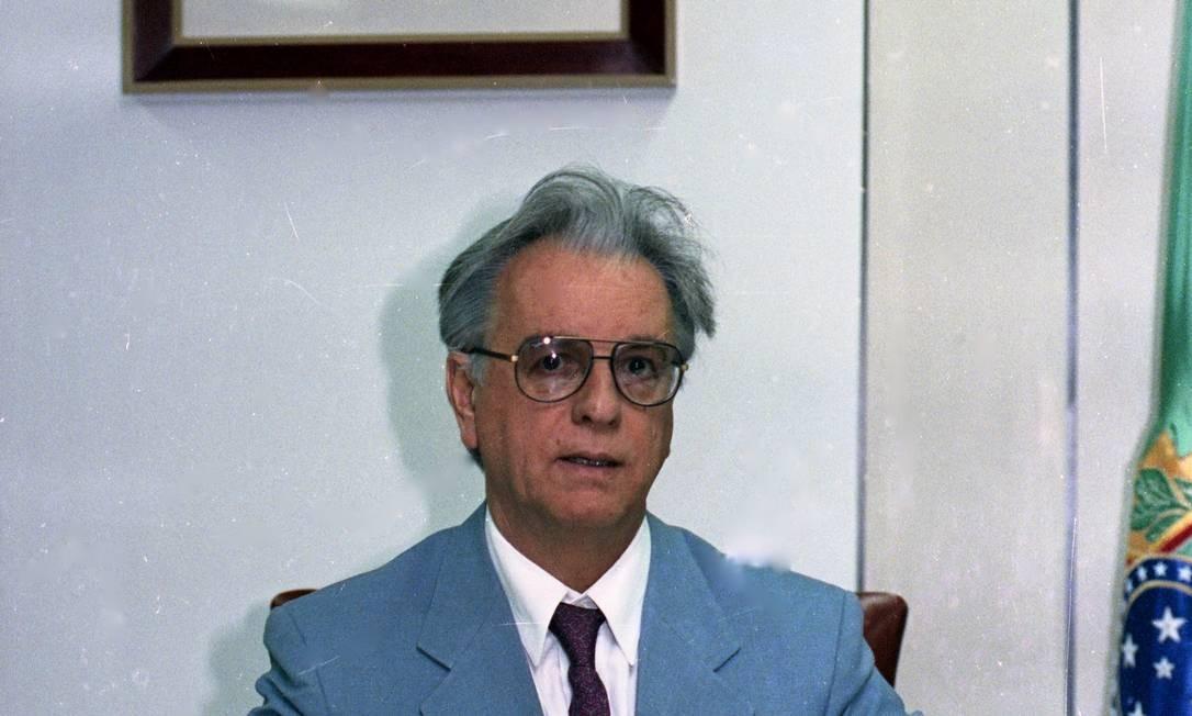 O topete de Itamar foi um ícone de seu mandato Foto: Ricardo Stuckert / Agência O Globo