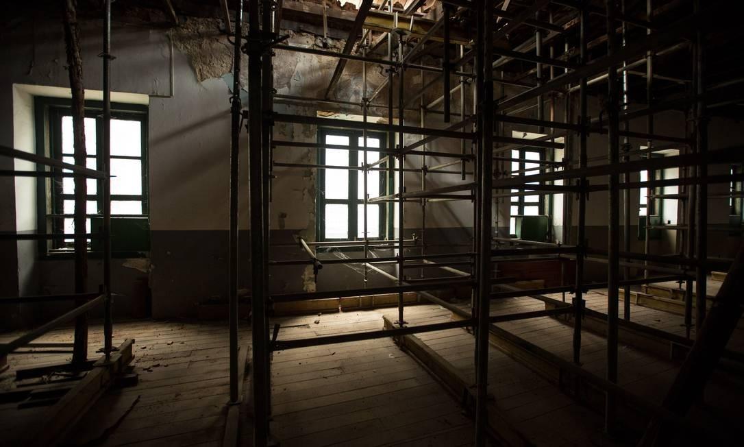 O Convento do Carmo, de 1619, localizado no centro do Rio, Praça XV, está em reconstrução e irá virar um museu da história e importância do local. Foto: Brenno Carvalho / Agência O Globo
