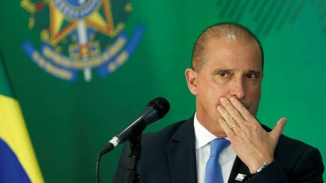 Onyx Lorenzoni, ministro-chefe da Casa Civil, durante entrevista Foto: Adriano Machado / Reuters