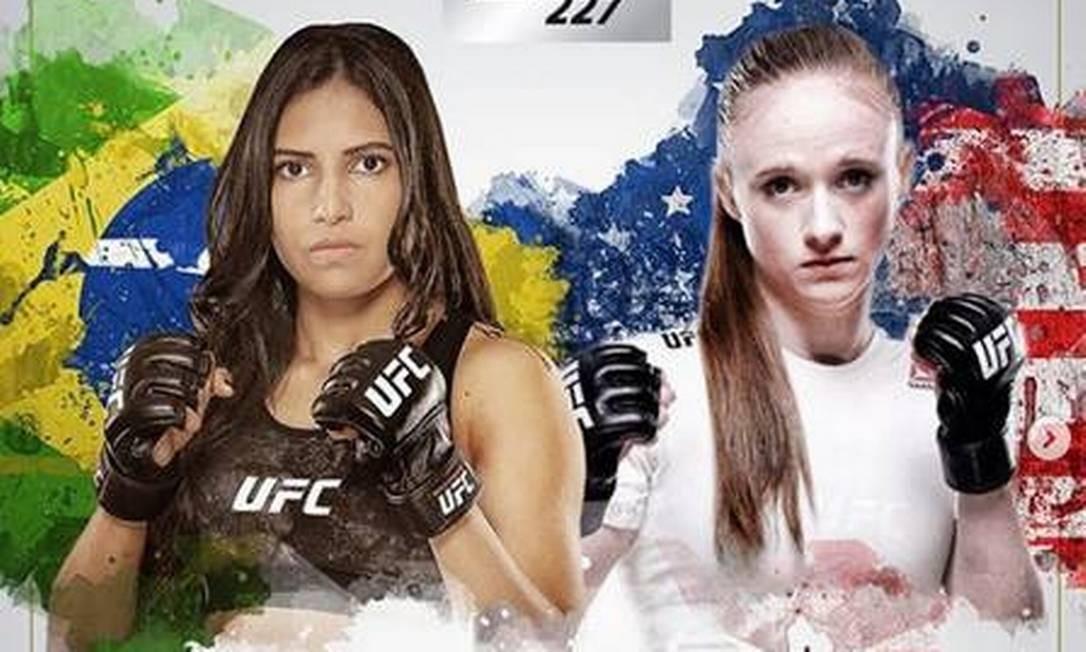 Cartaz da última luta de Polyana Foto: Reprodução/ Instagram(polyanaviana)